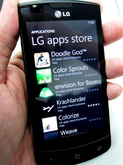 LG lança mais 4 aplicativos para Windows Phone 7
