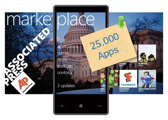 Marketplace windows phone 7 25000 aplicativos