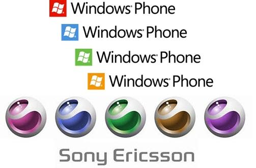 sony ericsson e windows phone 7 logos