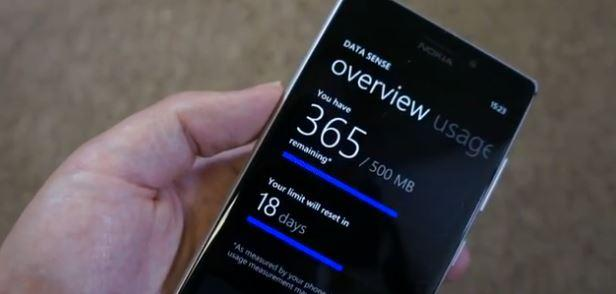 data sense windows phone 8 gdr2