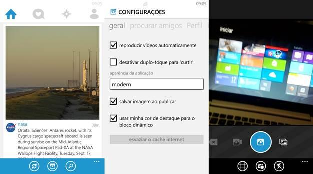 6tag instagram windows phone interface aplicativo