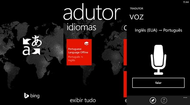 tradutor windows phone app bing