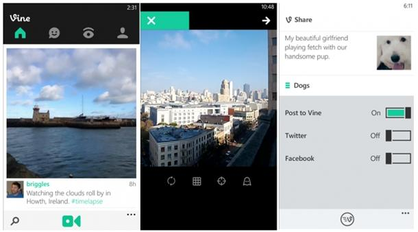 vine app oficial windows phone 8 screenshot