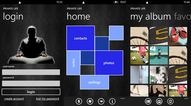 privative life windows phone principal