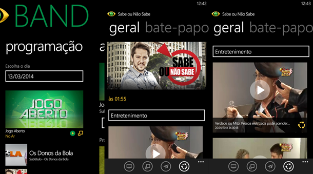 band app oficial windows phon