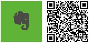 evernote app windows phone qr code