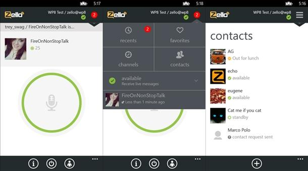 zello app oficial windows phone