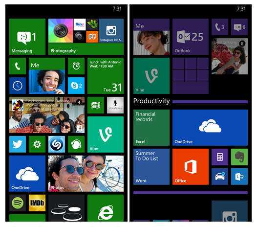 Live Folders GDR1 windows phone 81