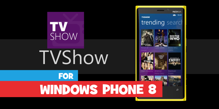 tvshow app windows phon header