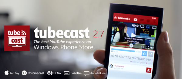 tubecast app youtube windows phone img11