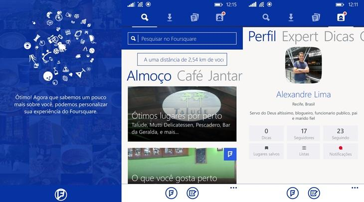 foursquare novo windows phone 2