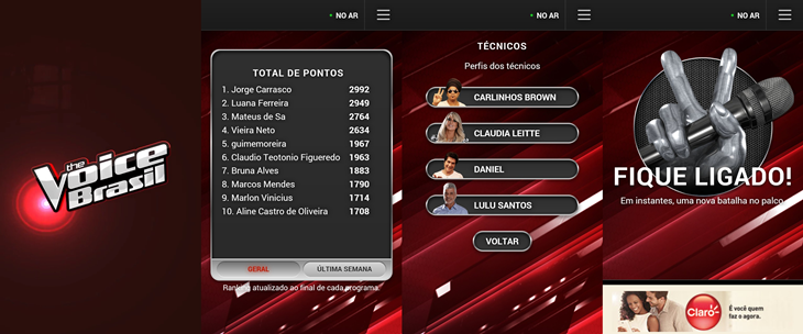 the voice brasil windows phone