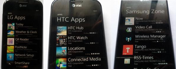 Apps Windows Phone OEM list