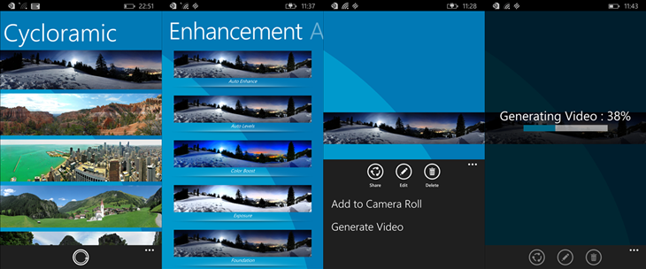 cycloramic windows phone