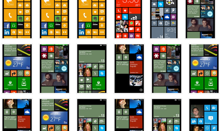 Home Screen windows phone varias
