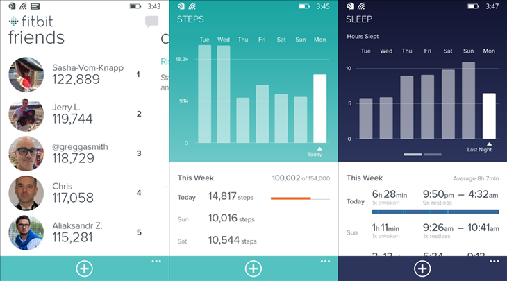 fitbit windows phone app