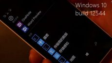 Vídeo revela próxima build 12544 do Windows 10 para smartphones com Office Touch, Loja Beta e mais...