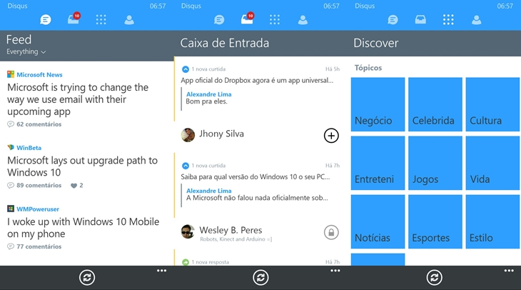 disqus windows phone app