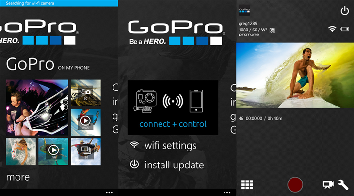 gopro windows phone