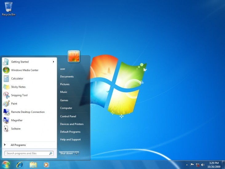 Desktop do Windows 7