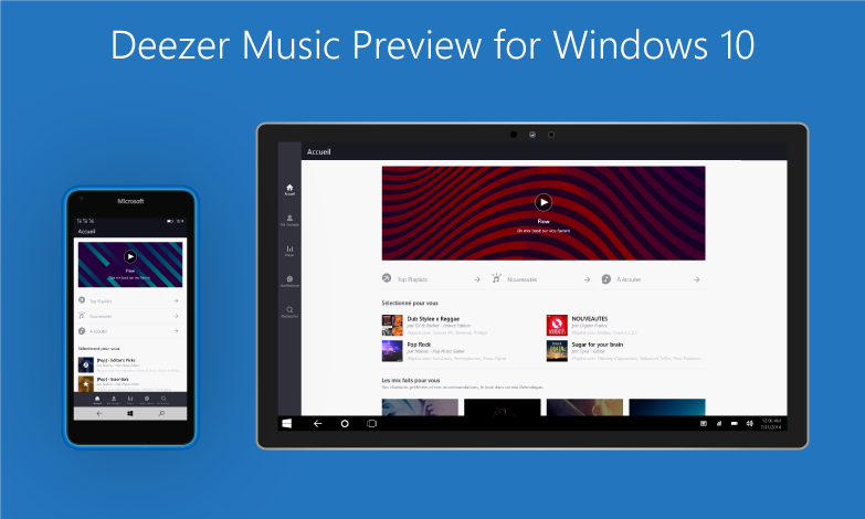 Deezer preview universal app Windows 10