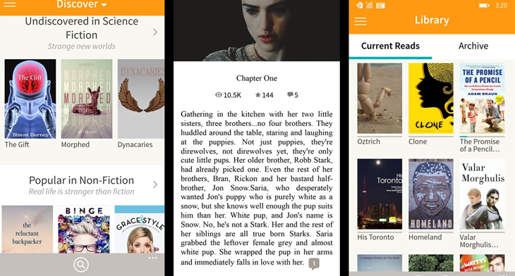 wattpad windows phone img2