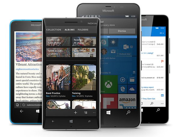 windows 10 mobile aparelhos antigos