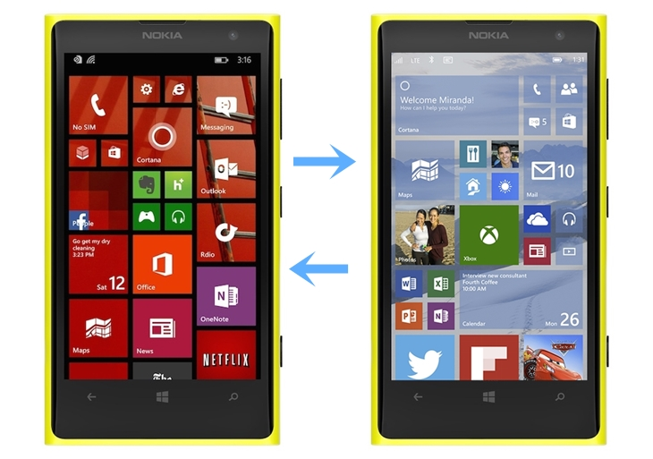downgrade windows 10 mobile windows phone 8