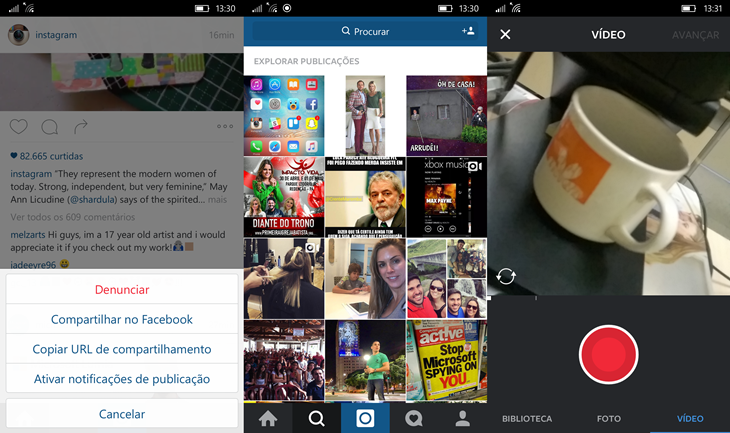 instagram beta novo windows 10 mobile img3