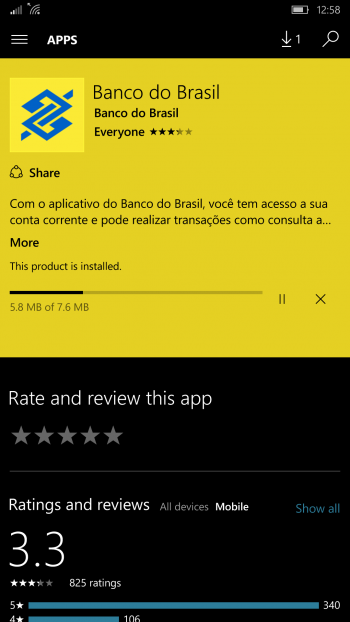 banco do brasil app windows phone update