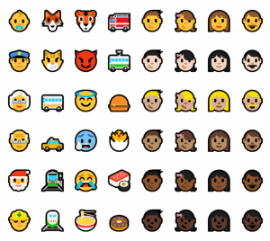 emojis windows 10