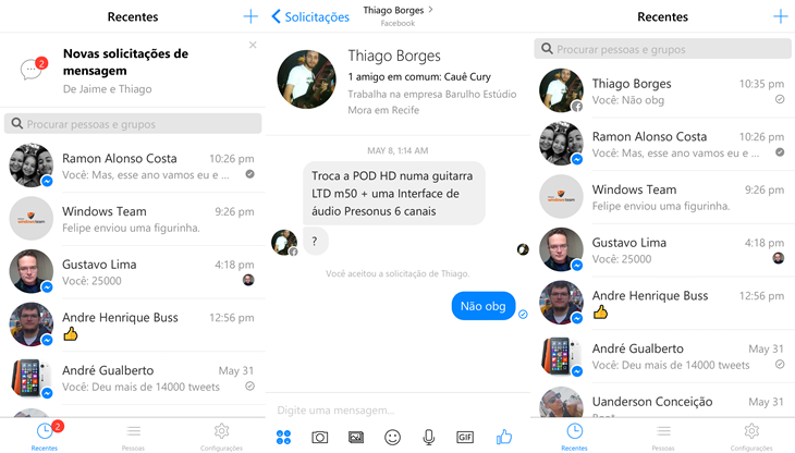facebook messenger beta windows 10 mobile img2