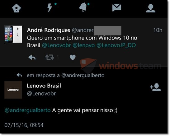 lenovo windows 10 device brasil