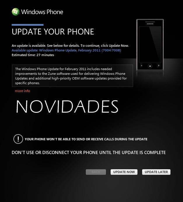 Novidades sobre a atualização do Windows Phone 7