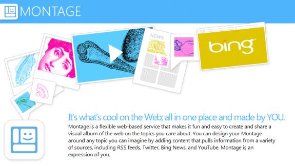 Microsoft Montage cria sites de uma forma diferente
