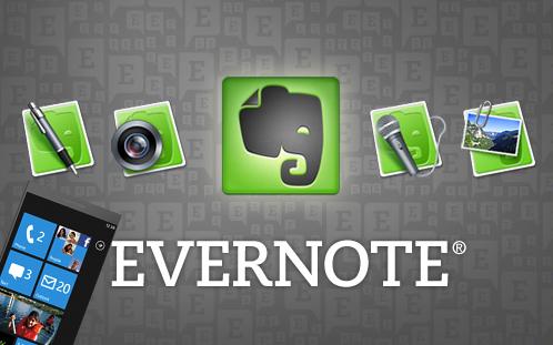Aplicativo EverNote chega a Marketplace para Windows Phone 7