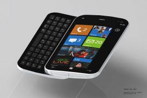 nokia windows phone 7 qwerty conceito