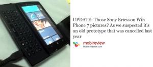primeiro prototipo sony ericsson com windows phone 7