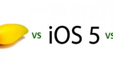 Nova comparação entre os navegadores do WP7 Mango do iOS5 do Blackberry OS7 e do Android 2.2