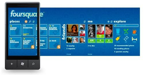 foursquare para windows phone 7
