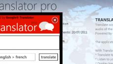 Google Tradutor para Windows Phone 7