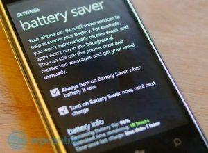 batterysave windows phone