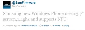 samsung omnia w samfirmaware twitter