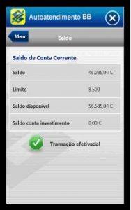 banco do brasil app for windows phone tela 1