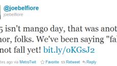 Joe Belfiore acaba com as esperanças de recebermos a Mango neste dia 15 de setembro