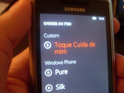 toque customizado windows phone