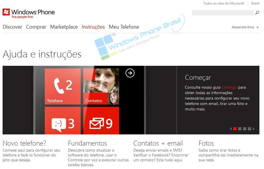 windows phone brasil site oficial da microsoft
