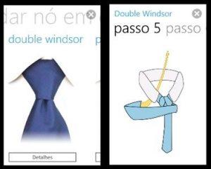 como dar no de gravata wp7 telas