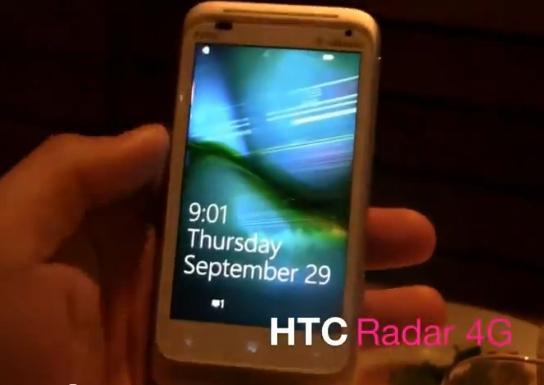 htc radar 4g hands on