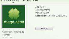 Baixe agora mesmo o aplicativo da Mega-Sena para seu Windows Phone 7